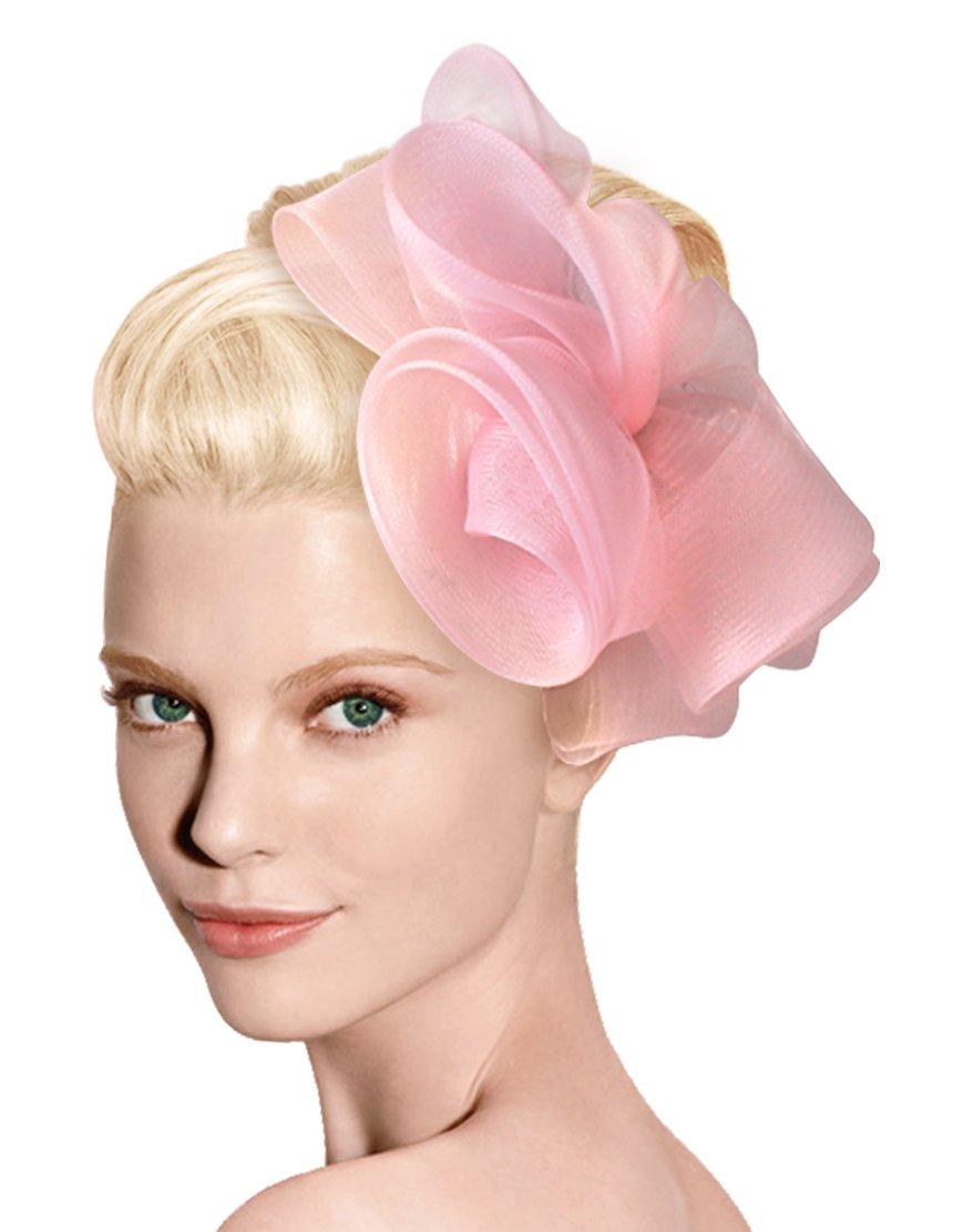 Mr. Song Millinery Crin Hair Fascinator Headband - P572 (White)