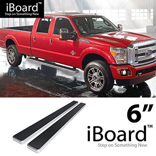 """6"""" Silver EBoard Running Boards For 1999-2016 Ford F250"""