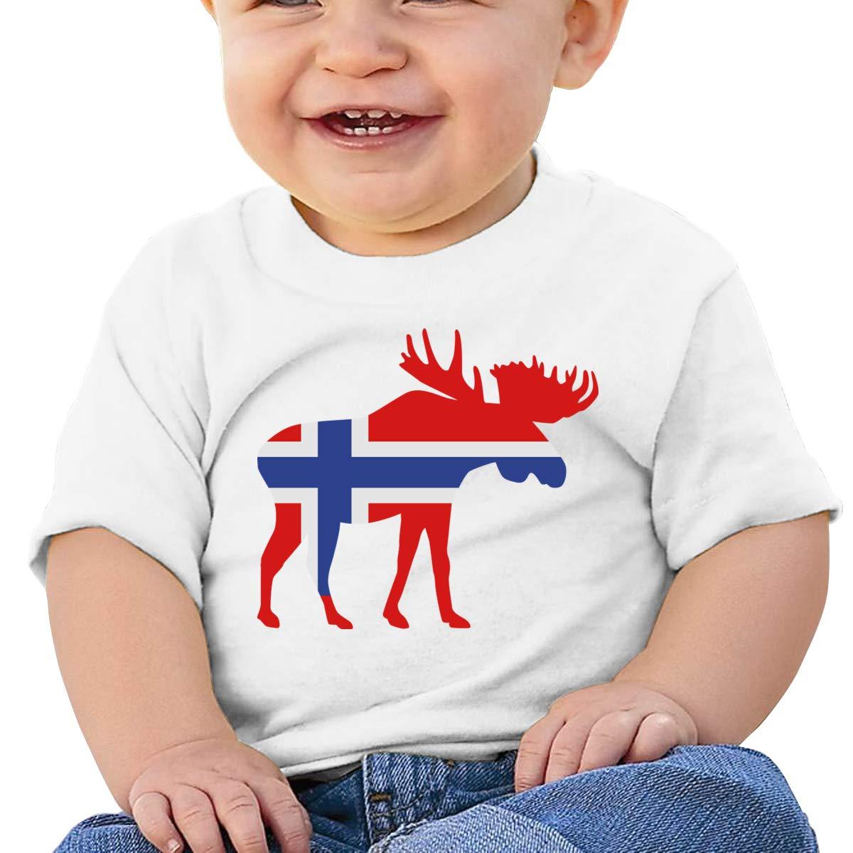 Qiop Nee Iceland Moose Flag Short Sleeve Tee Baby Boys
