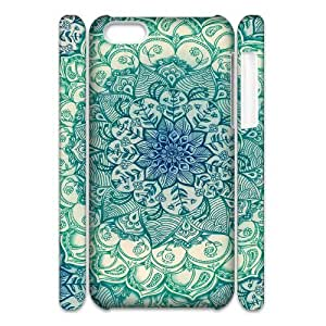 AKERCY Painted Flower Phone 3D Case For Iphone 5C [Pattern-6]