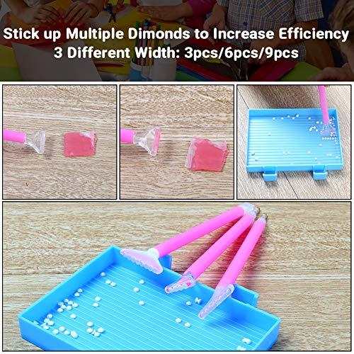 VGOODALL DIY 5D Diamond Painting Werkzeug Set, Crystal Strass Kreuzstich Stickerei Malerei Zubehör für Erwachsene/Kinder Kunst Handwerk