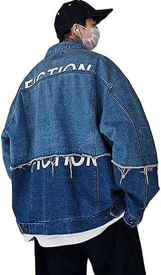 [チューカー ] デニムジャケット 長袖 メンズ ゆったり プリント柄 ファッション ストリート系 アウター 大きいサイズ 秋