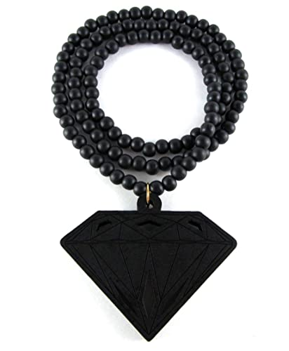 Hip Hop Jewels Large Wooden Diamond Supply Co BBC Pendant Bead Chain Necklace ALL GOOD