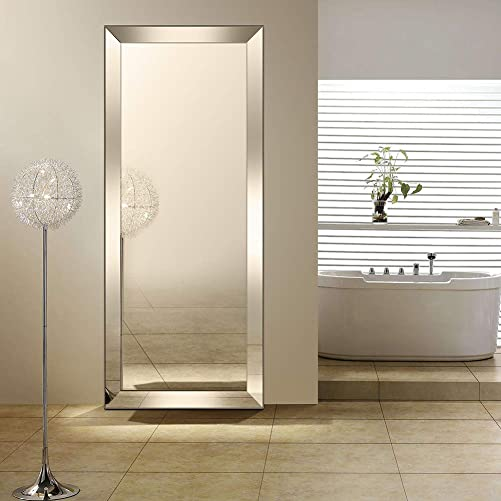Openuye Full Length Mirror, 70 x30 Large Floor Mirror Full Length Standing or Wall-Mounted Mirror for Living Room Bedroom Bathroom 70 30