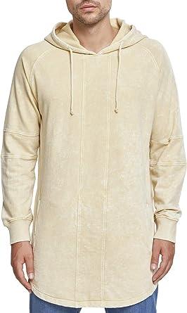 Urban Classics Terry Acid Washed Long Shaped Hoodie Sweatshirt à Capuche Homme