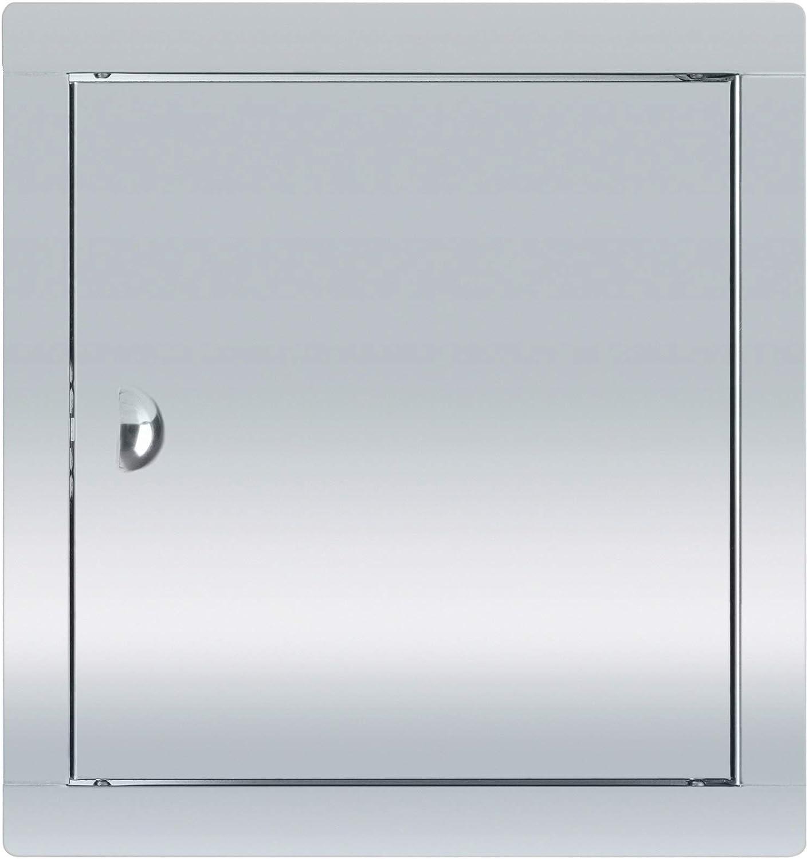 ADGO Puerta de inspección de acero inoxidable con cerrojo plateado (30 x 30)