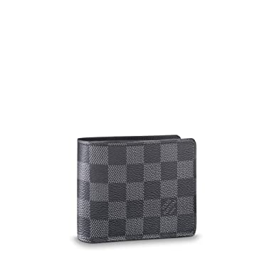 86a713518121 Image Unavailable. Image not available for. Color  Louis Vuitton Damier  Graphite Canvas Multiple Wallet N62663