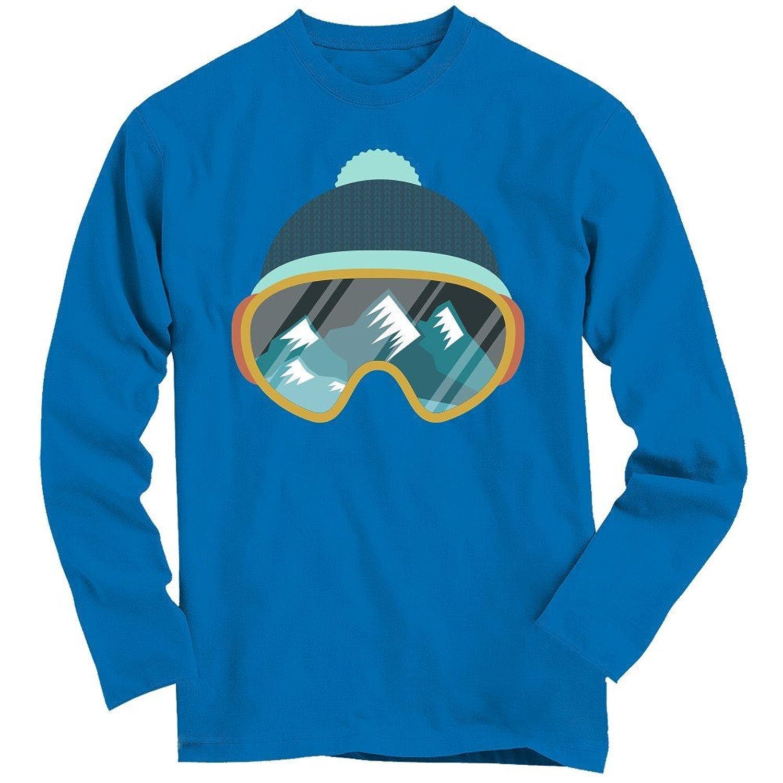 Snow #1 Longsleeve-Shirt | Wintersport | Snowboarden | Skifahren | Schnee | Skibrille | 100% Baumwolle | 3XL