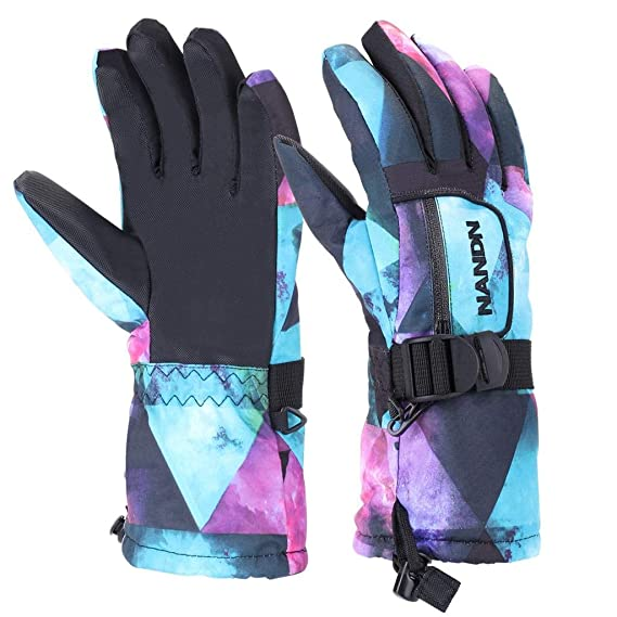 VERTAST Kinder Damen Herren Skihandschuhe Winddichte Wasserdichte Winter warme Handschuhe Fahrradhandschuhe