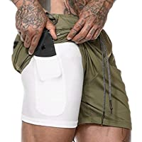 SELX Men Running Cintura con Cordon Sport Fitness Shorts Pants