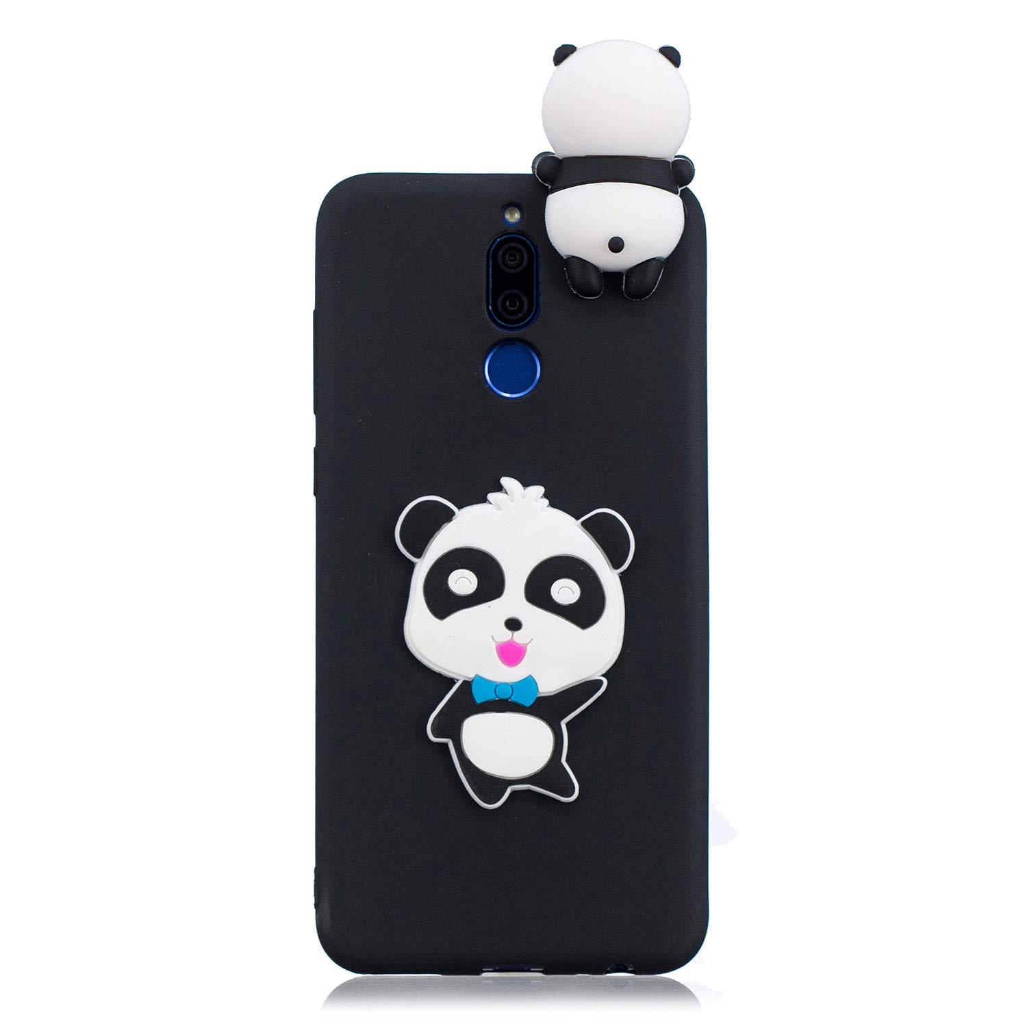 for Huawei Mate 10 Lite Silicone Case with Screen Protector,QFFUN 3D Cartoon [Panda] Pattern Design Soft Flexible Slim Fit Gel Rubber Cover,Shockproof Anti-Scratch Protective Case Bumper by QFFUN (Image #2)