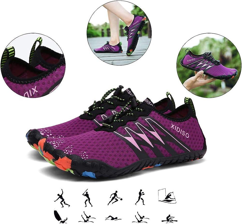 FUSHITON Chaussures Aquatiques Homme Femme Chaussures de Plage Yoga Chaussures de Bain Peau Aquatique Chaussures-pour Sport Aquatiques de Plage Et deau Chaussures
