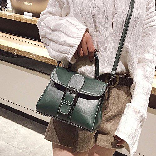 Trend Cuadrado De Green Moda Bolsos Paquete Wild Crossbody De Ms Bolso Pu De Hombro Portátil Pequeño Simple CqXw86H
