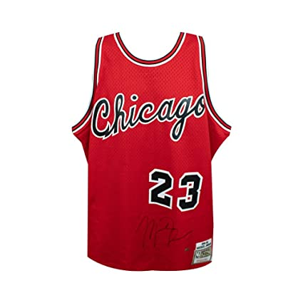 3706dfd1401 Image Unavailable. Image not available for. Color: Michael Jordan  Autographed Chicago Bulls Mitchell & Ness Rookie Jersey ...