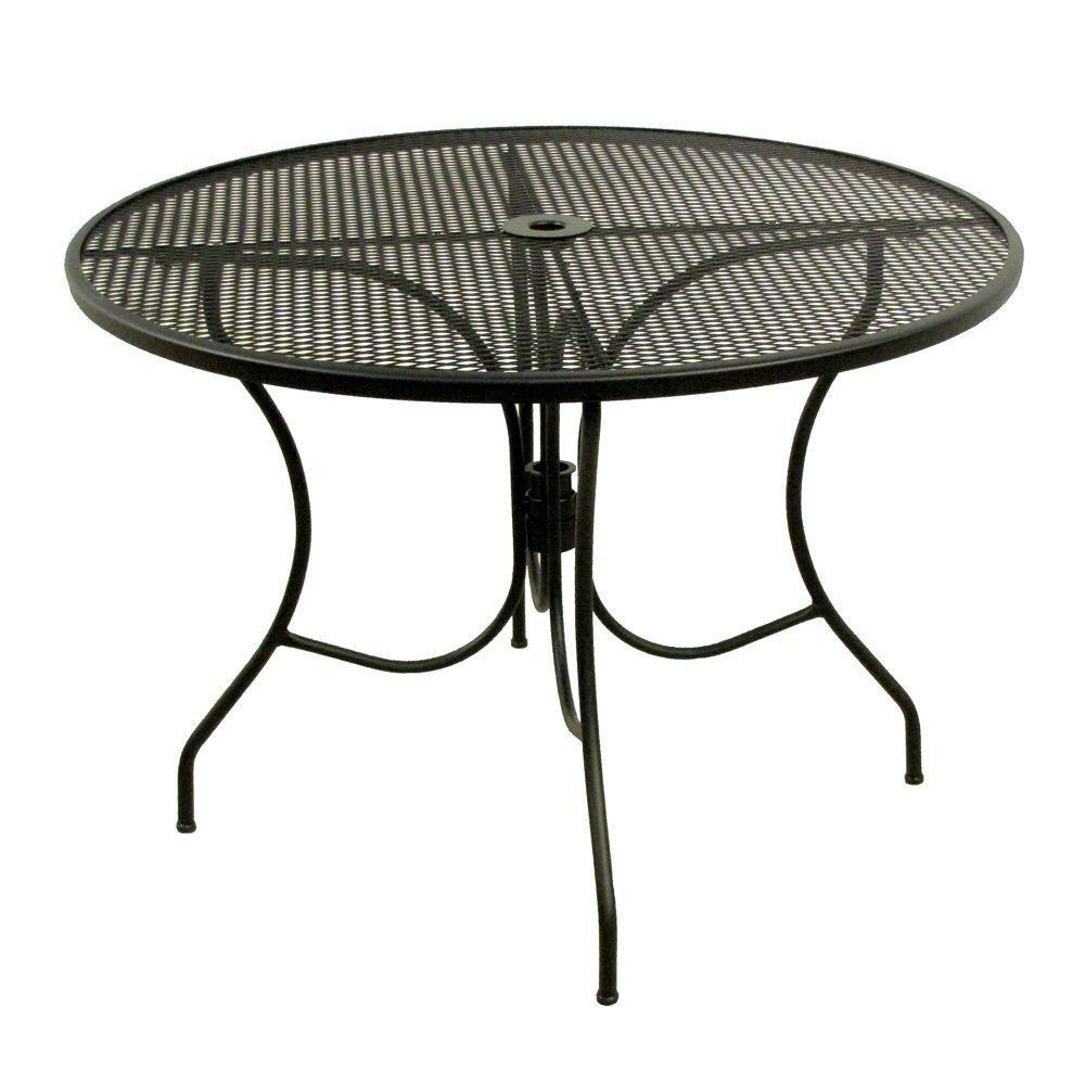 Round Mesh Patio Table
