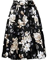 XTX Women's Floor Length Below the Knee Print Bubble Skirt