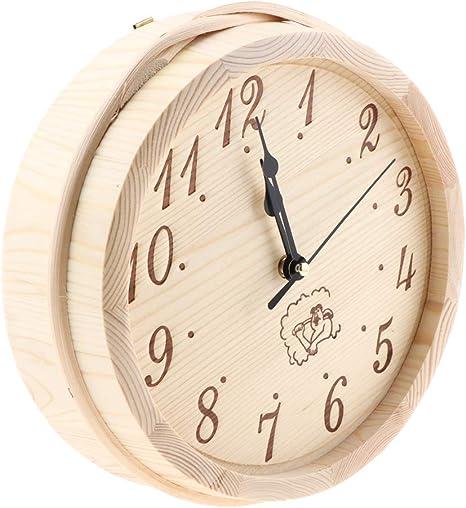 NON Reloj de Pared de Madera Relojes de Dormitorio Herramienta de Jardin Casera: Amazon.es: Deportes y aire libre