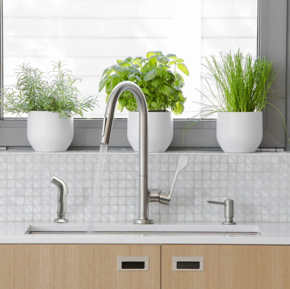 Kitchen Side Sprayer Brushed Nickel,Kitchen Sink Sprayer Head Replacement,Kitchen Sink Faucet Sprayer Hose,Kitchen Sprayer Head Replacement,Kitchen Sink Pull Out Spray head,Kitchen Sink Spray Hose by Houtingmaan (Image #5)