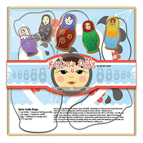 - Fox Run 36038 Nesting Dolls Cookie Cutter Set Tin-Plated Steel