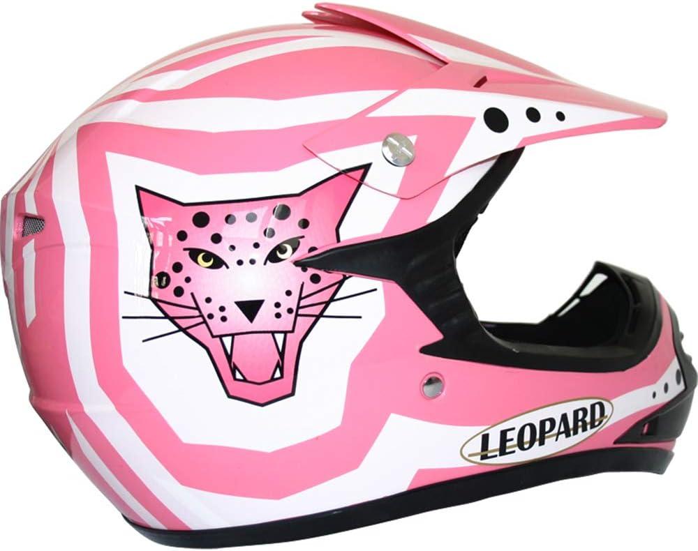 Handschuhe Brille} ECE Genehmigt Crosshelm Kinderquad Off Road Enduro Sport Leopard LEO-X17 Kinder Motocross MX Helm { Motorradhelm