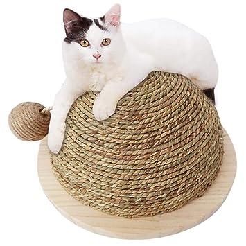Jannyshop Semi-Circular Rascador para Gatos Juguete Tablero del Rasguño con Sisal Bola Colgante: Amazon.es: Productos para mascotas