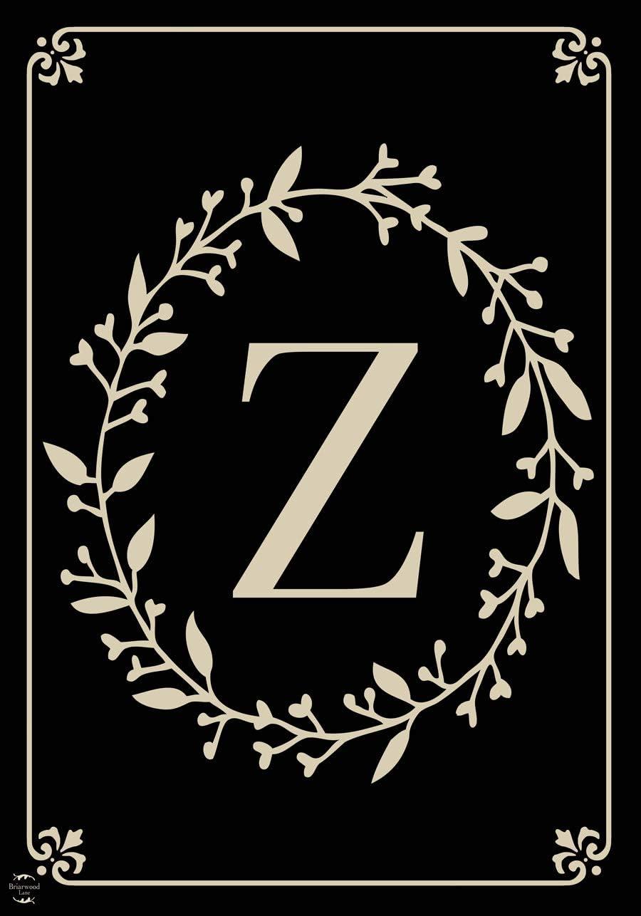 "Briarwood Lane Classic Monogram Letter Z Garden Flag Everyday 12.5"" x 18"""