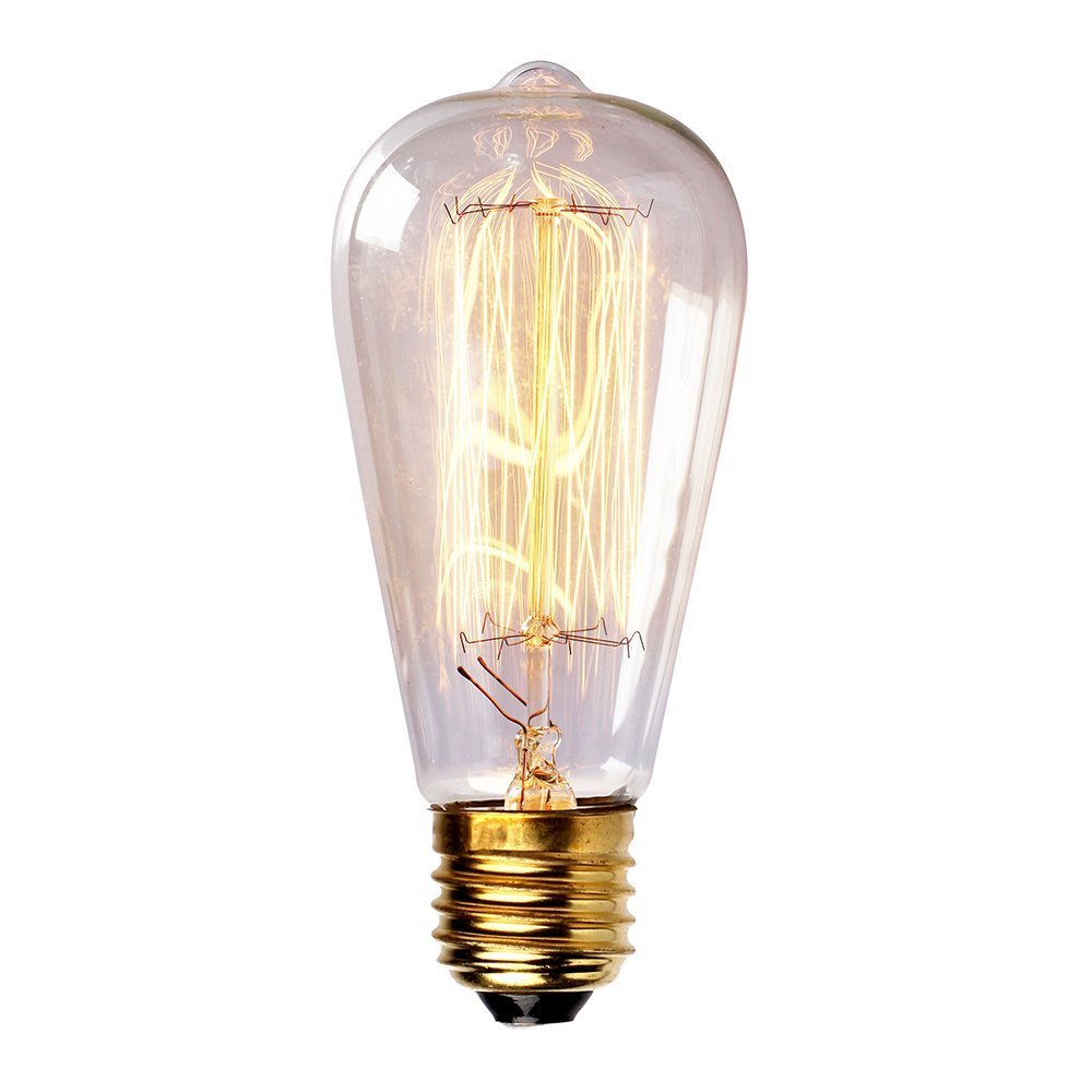 Newhouse Lighting 60-Watt Vintage Edison Filament Light Bulb ...:Newhouse Lighting 60-Watt Vintage Edison Filament Light Bulb, Medium (E26)  Standard Base E27, 120V, 230 Lumens - - Amazon.com,Lighting