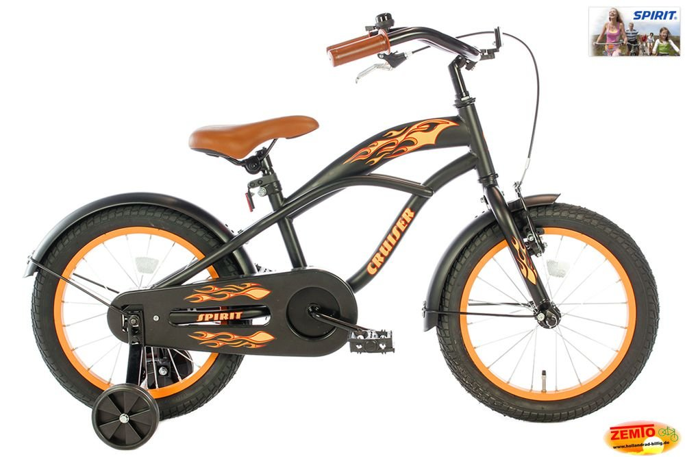 Spirit Jungenrad Cruiser Orange 16 Zoll