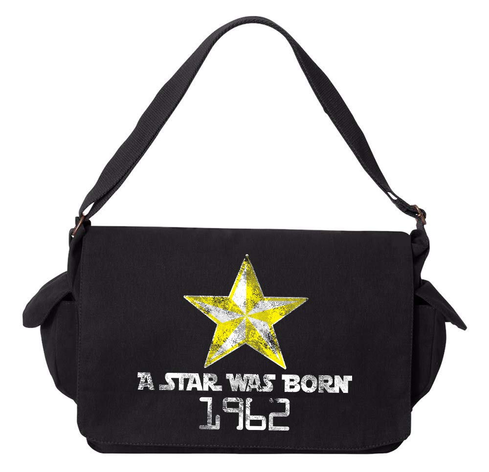 Tenacitee A Star Was Born 1962 Grey Brushed Canvas Messenger Bag