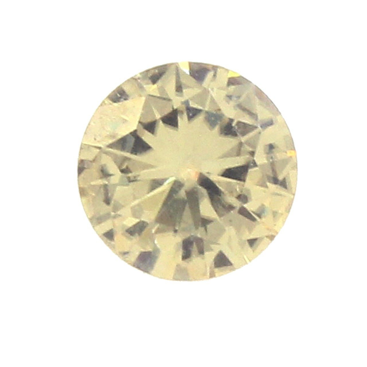 Loose Round Genuine Tested 6.75 mm Yellow Moissanite, 1 ct Diamond Equivalent Weight