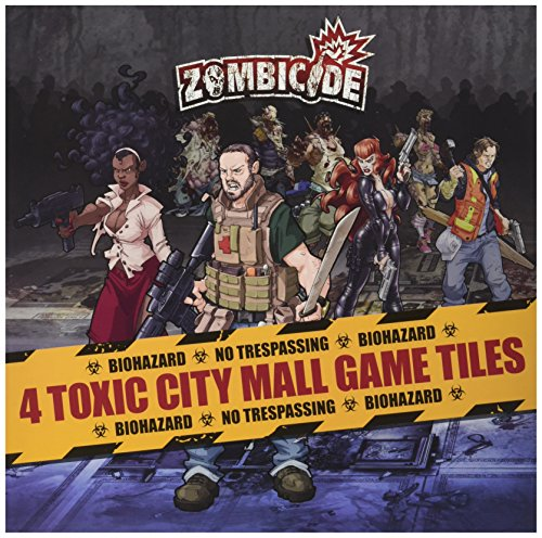 Zombicide: Toxic City Mall 4 Double Sided Game Tiles Board - Town River Mall
