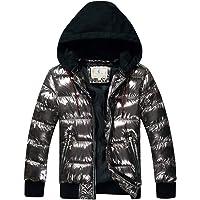 SXSHUN Niños Chaqueta Impermeable de Invierno Snow Jacket Abrigo de Nieve Acolchado de Algodón con Capucha Desmontable