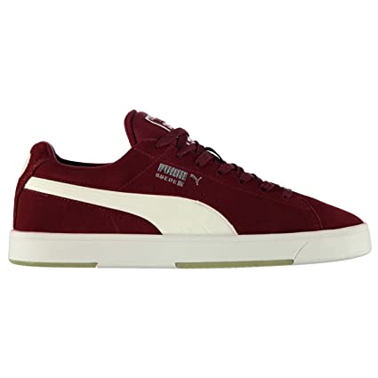 Puma Suede S Trainers Mens Burgundy White Casual Sneakers Shoes Footwear  (UK6) ( a1cf598e5