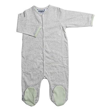 bebobio – Pijama de bebé (algodón ecológico), color gris jaspeado gris gris Talla