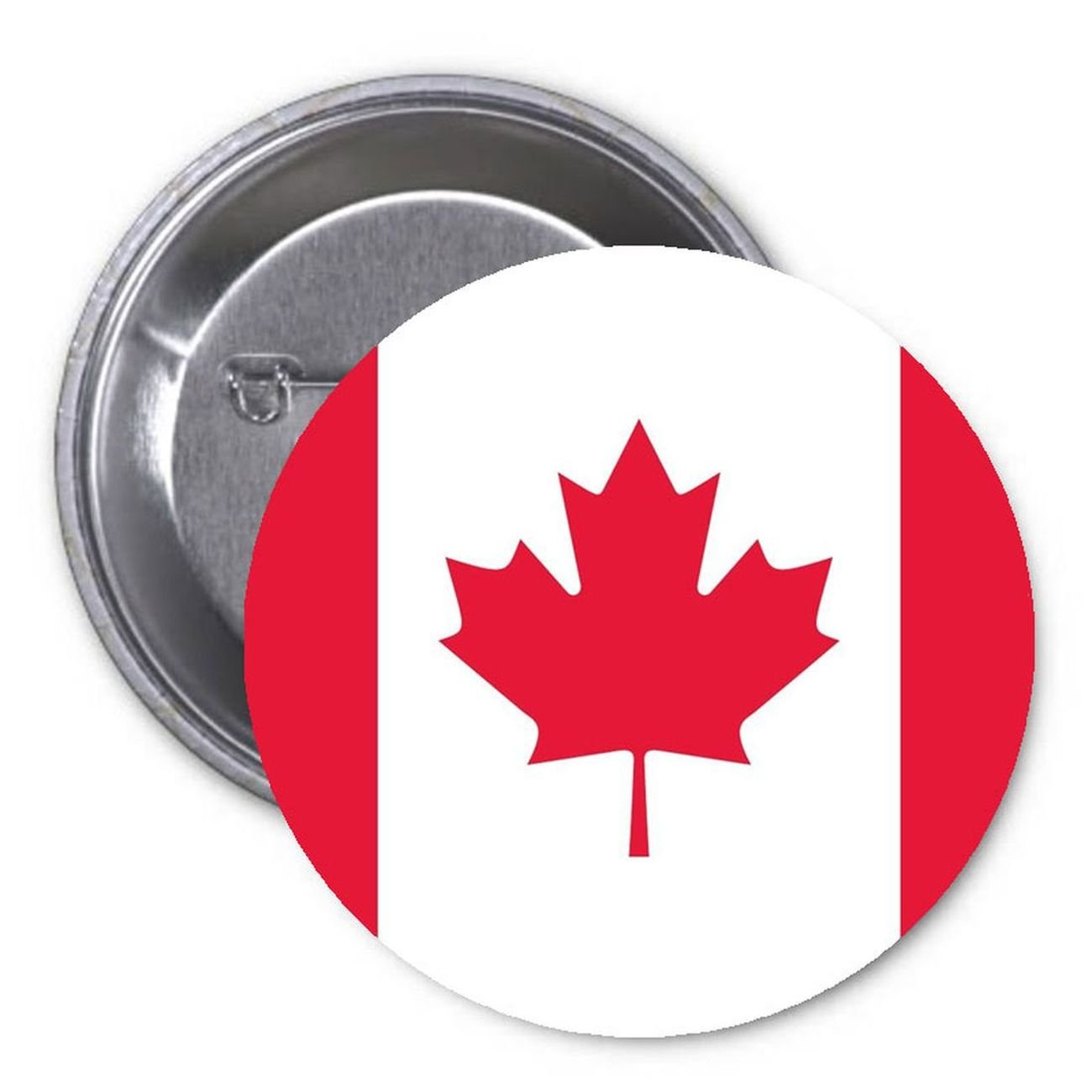 Canada Flag 1.25 Pinback Button Pin Nationality Pride Country
