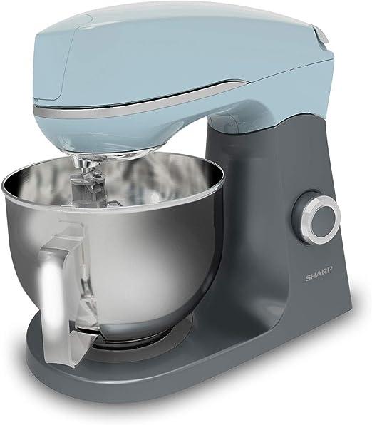 Sharp SA-FK3003AL - Robot de cocina con gancho para amasar, batidor y batidora, color azul y grafito: Amazon.es: Hogar