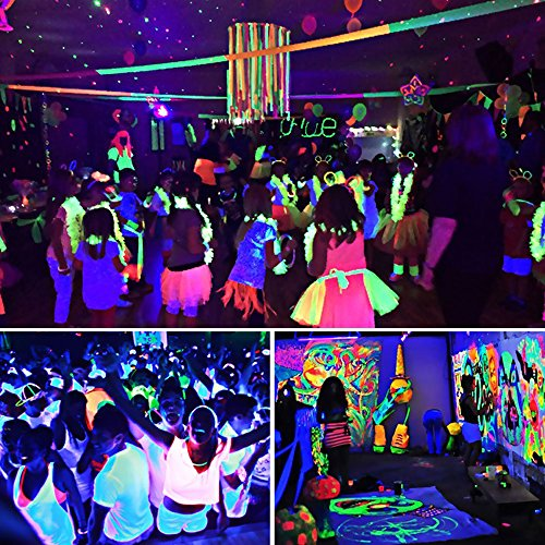 HIOTECH UV LED Bar Black Light with 3Wx9 LEDs Blacklight Effect Supplies for Parties Birthday Wedding DJ Stage Lighting in Dark (9 LEDs) by HIOTECH (Image #6)