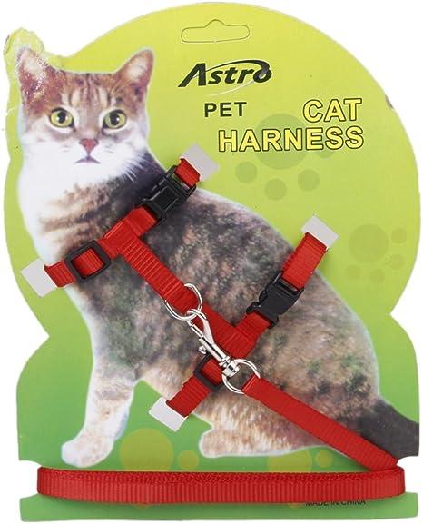 Ajustable Correa Cuerda Arnes Collar Para Mascota Gatos Seguridad ...