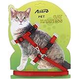 Ajustable Correa Cuerda Arnes Collar Para Mascota Gatos Seguridad Nylon
