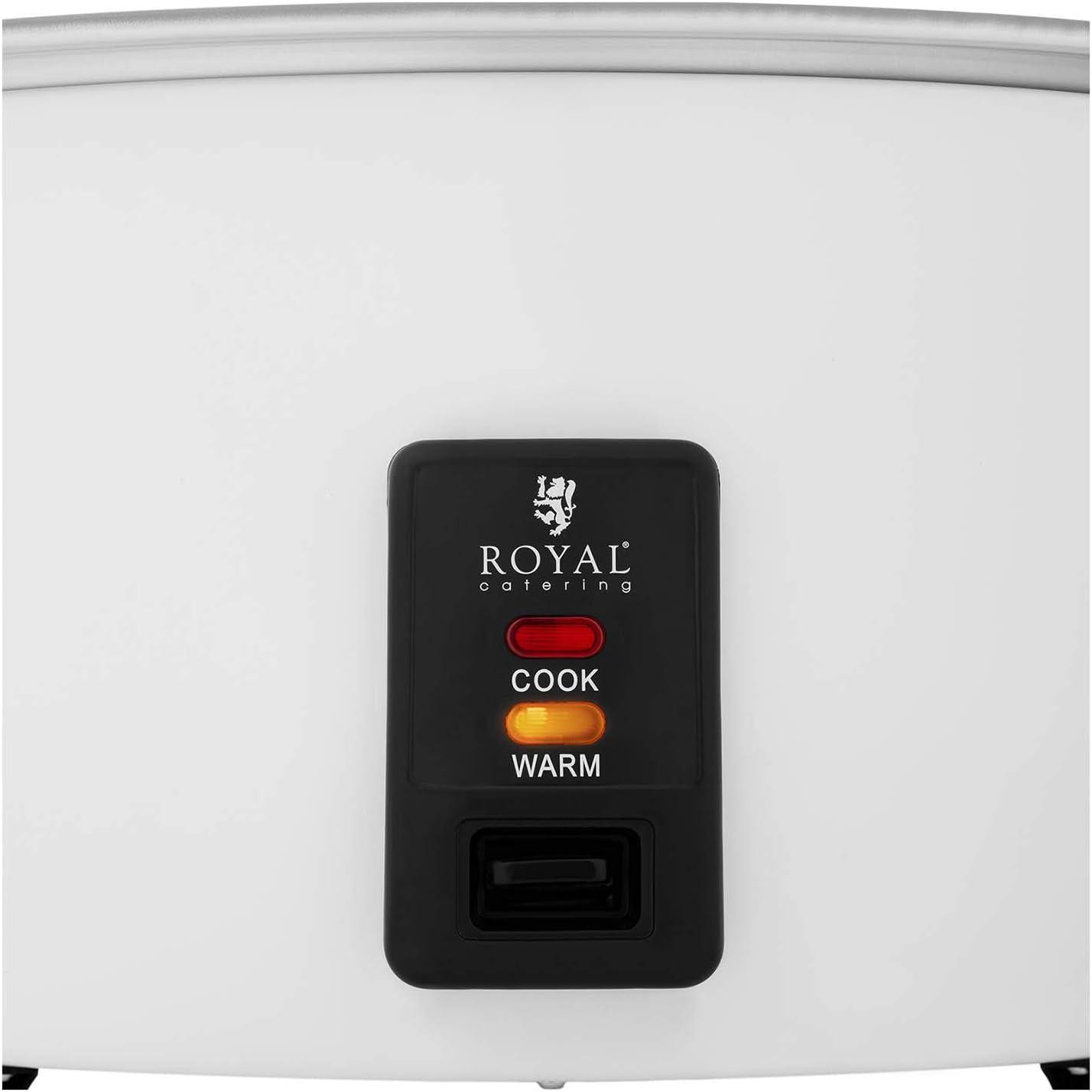 Olla de cocci/ón de aluminio, Carcasa de acero inoxidable, 19 L, Potencia: 2650 W Royal Catering Arrocera Olla Para Arroz RCRK-19L
