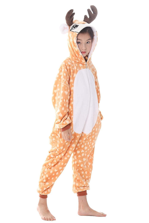 YAOMEI Bambini Kigurumi Pigiama Onesie Estate Ragazza Ragazzo Anime Maniche Corte Unicorno Costumi Camicie da Notte Cosplay Halloween Natale Party Attrezzatura Sleepwear