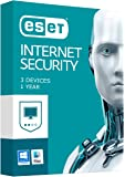 ESET Internet Security - 3 Devices, 12 Months Subscription. Windows 10& Mac Compatible
