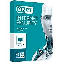 ESET Internet Security - 3 Devices, 12 Months Subscription. Windows 10& Mac Compatible