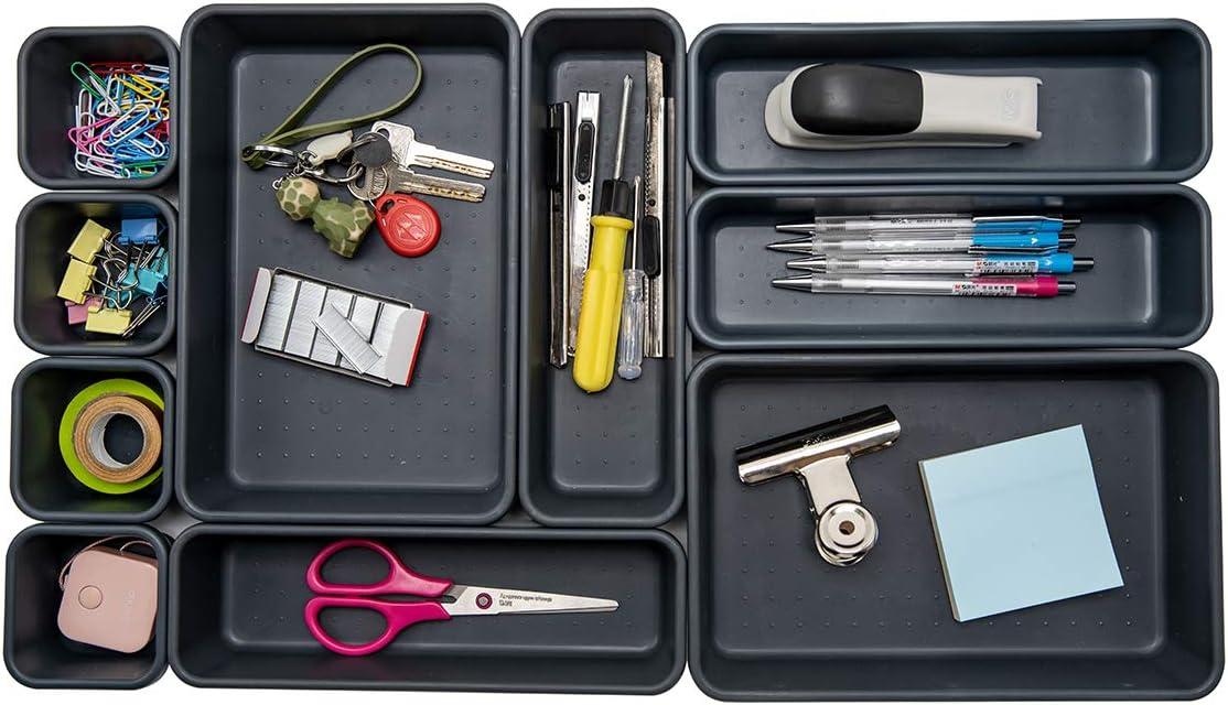 Kitchen Interlocking Desk Drawer Organizer Separators for Office,Bathroom Mak