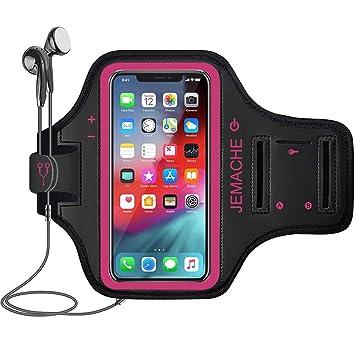 80eccf761a9 Brazalete para iPhone XS MAX, JEMACHE Gimnasio Correr, Hacer Ejercicios,  Deportivo Resistente al