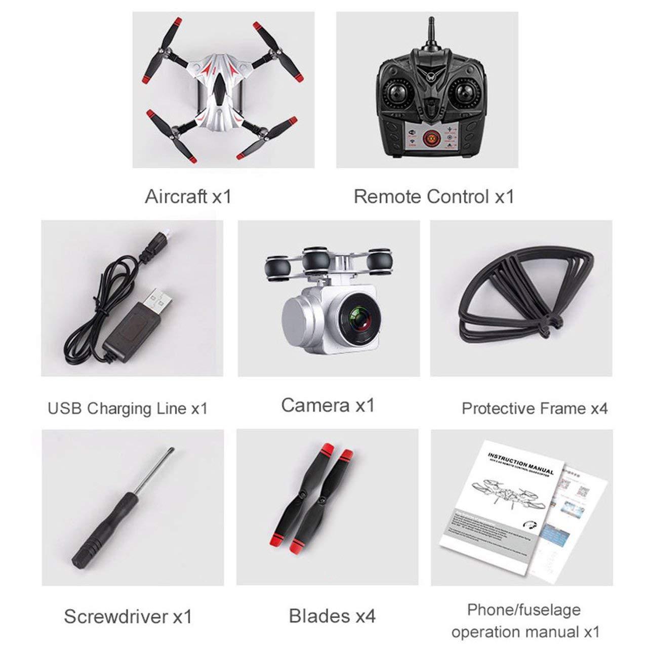 Jasnyfall S13 2.0MP Kamera 4 Kanal 6 Achsen Achsen Achsen Lange Fernbedienung Quadcopter Kamera Drone Silber- 33298b