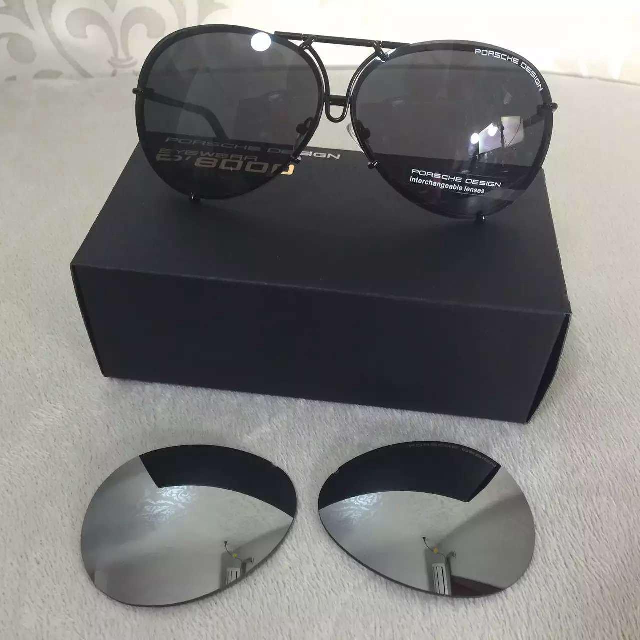 PORSCHE DESIGN P8478 D Aviator Sunglasses Black Matte Frame Size 69 + Extra Lens