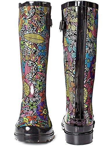 SheSole Women's Waterproof Rubber Rain Boot 2