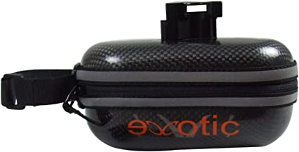 Size eXotic Full Carbon Saddle Bag Case 12cm EVA lining 90g with clamp Small