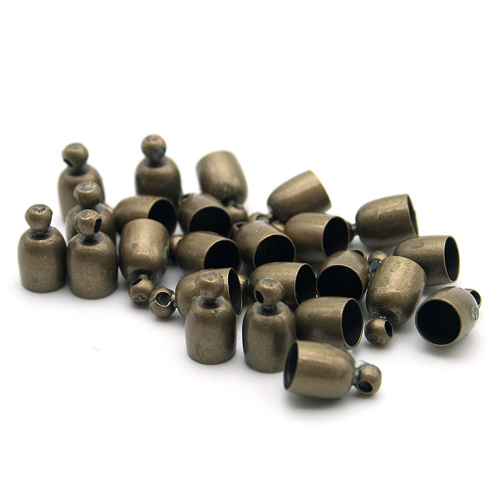 20 Pcs Decorative DIY Crafts Bowl Shaped Bronze Color Stainless Metall Bells Beautiful Bead BHBA779